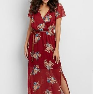 Red short sleeve maxi #10